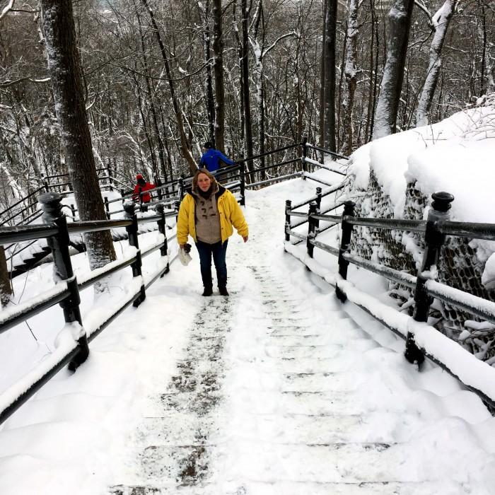L'ascension du parc du Mont Royal. Pas de tout repos quand on est enceinte !