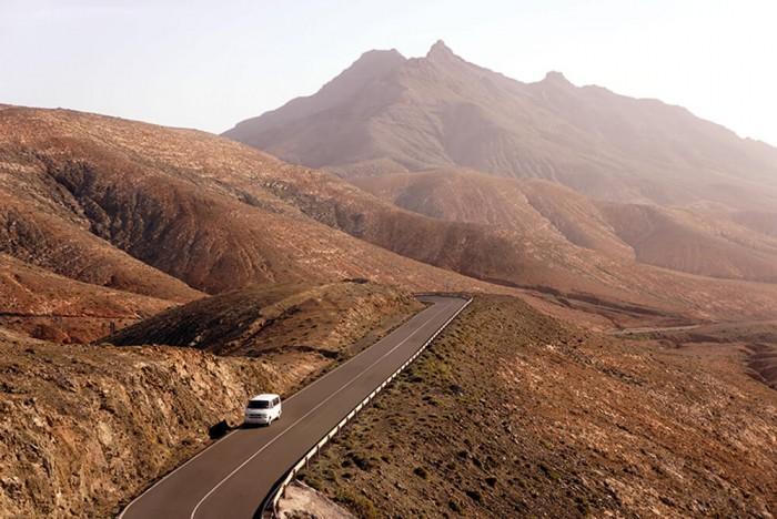Le centre de l'île est aride comme Lanzarote et offre de magnifique paysages désertiques.