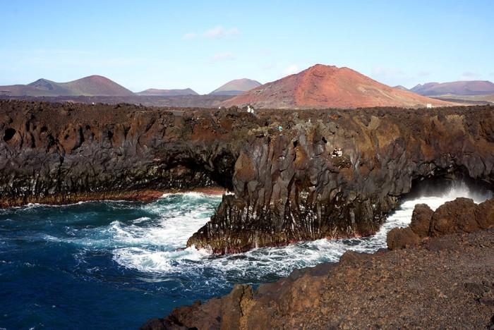 Une mer déchainé et des paysages à couper le souffle, c'est ça Lanzarote !