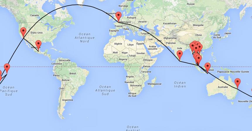 225 jours autour du monde notre itin raire de tour du monde en famille ma famille voyage. Black Bedroom Furniture Sets. Home Design Ideas
