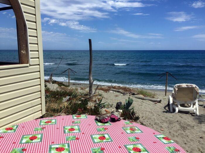 La vue depuis notre bungalow... :)