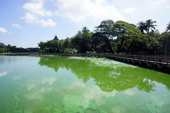 Rangoun nous a séduite surtout pour ses nombreux parcs et pour ses grands lacs.