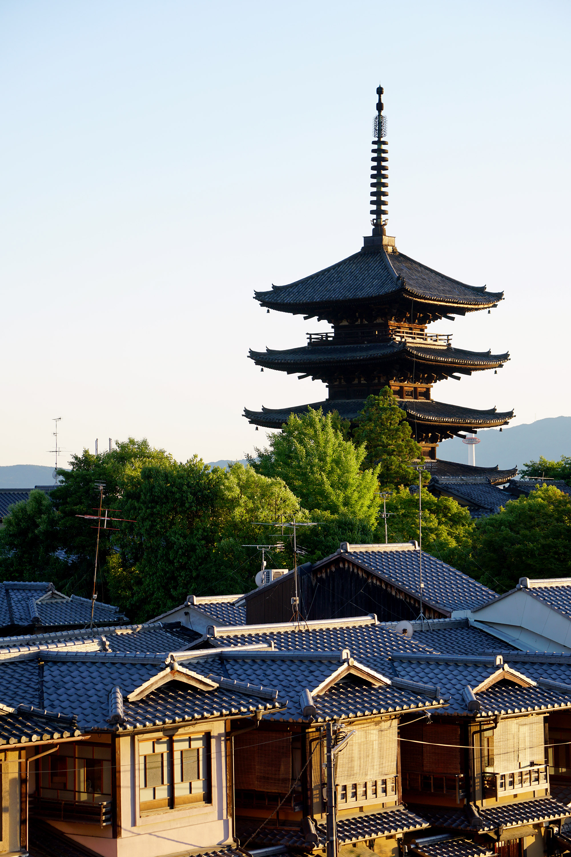 Le soleil se couche sur Kyoto...