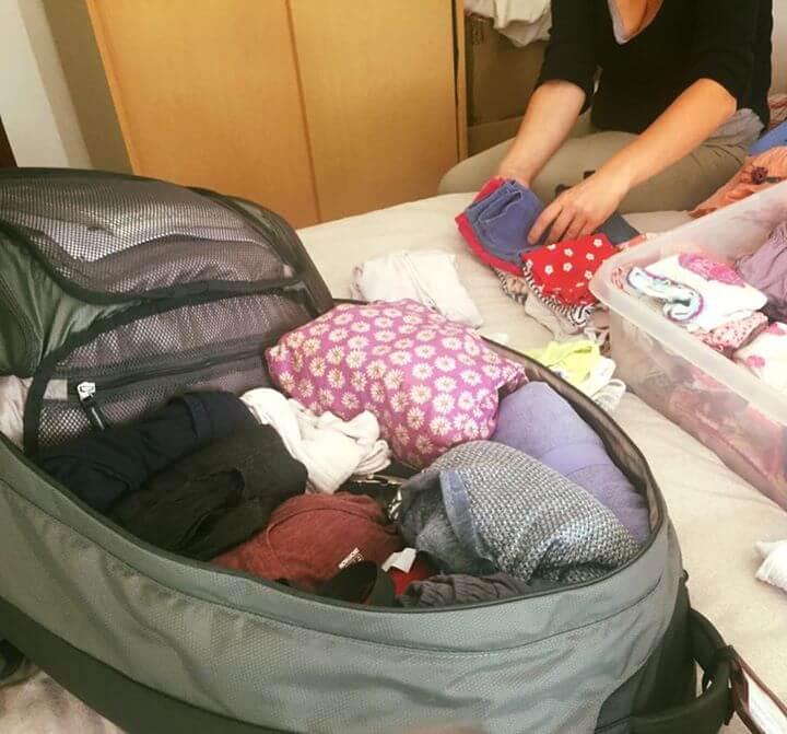 J-1 !!! On finit de préparer LE sac de voyage et, Ouf, tout rentre…