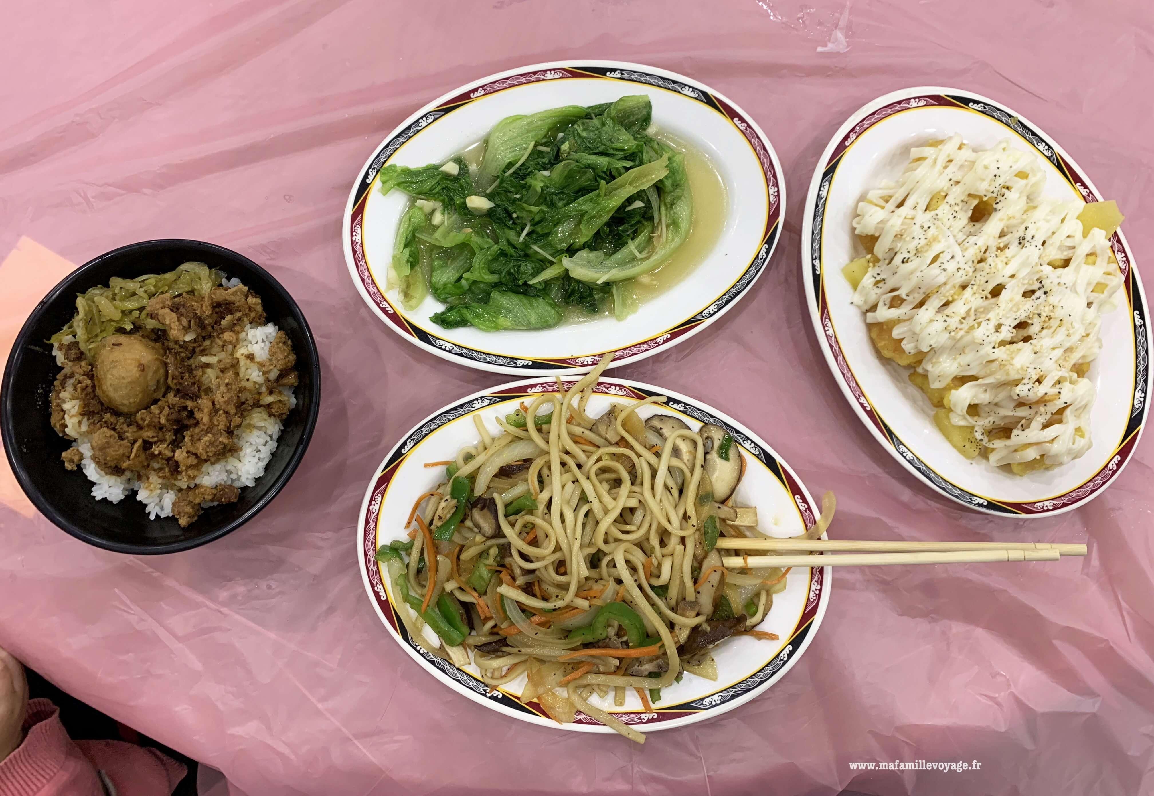 Voici le repas classique à Taïwan