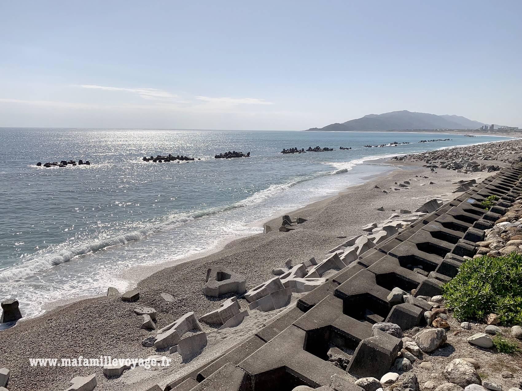 Le bord de mer à Hualien