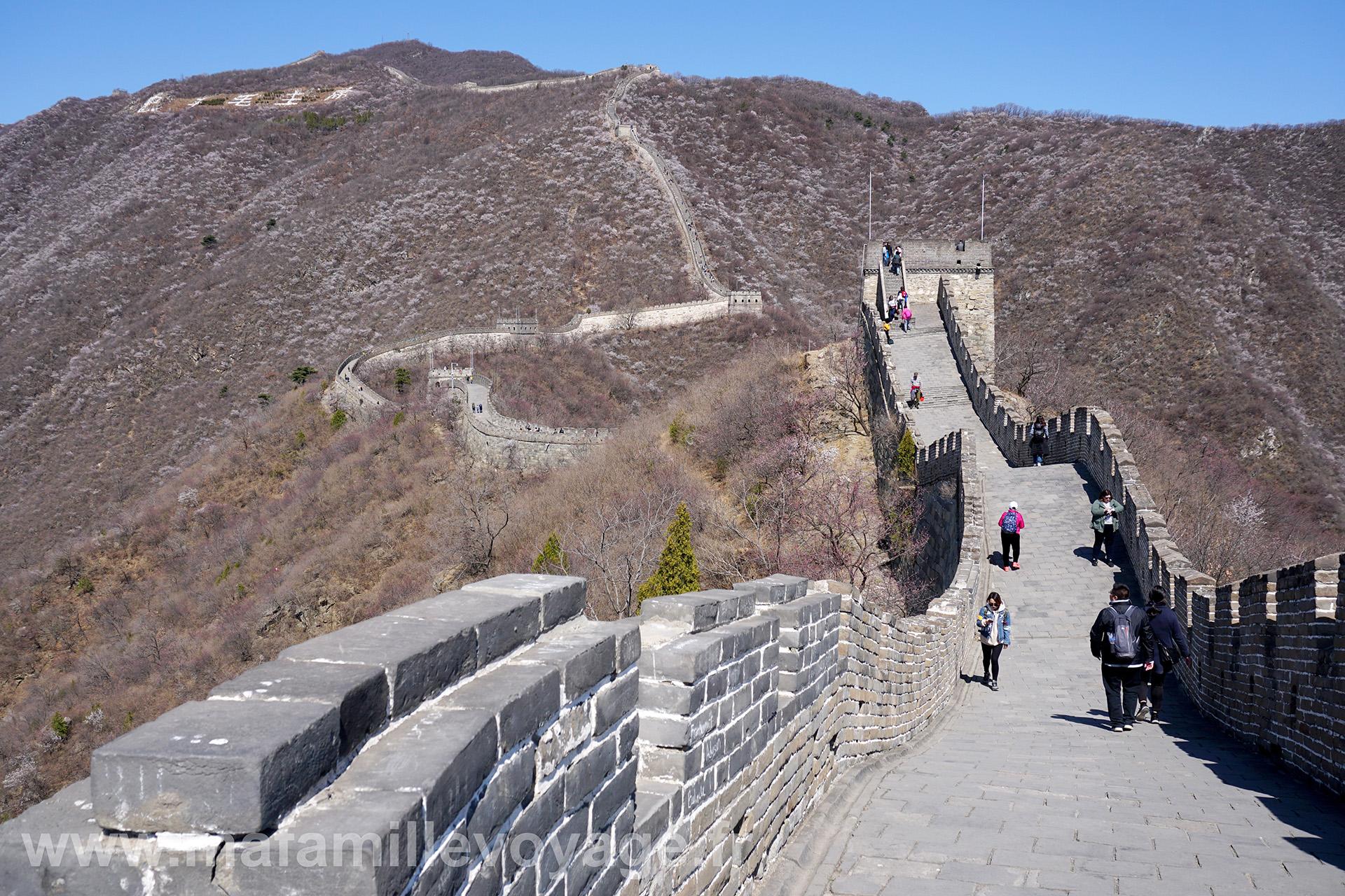 La muraille suit le relief